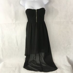 Poetry Black Strapless Dress Size Small
